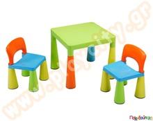 47146899361 Σετ κλασσικό παιδικό πλαστικό τραπέζι με 2 καρέκλες Σετ Παιδικά Τραπεζάκια  - Καρεκλάκια